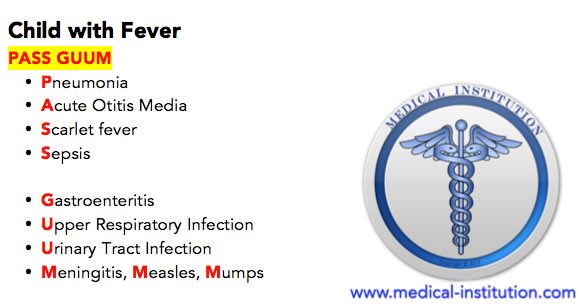 Child With Fever Differential Diagnosis Mnemonic