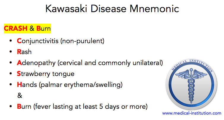 Kawasaki Disease Mnemonic Crash