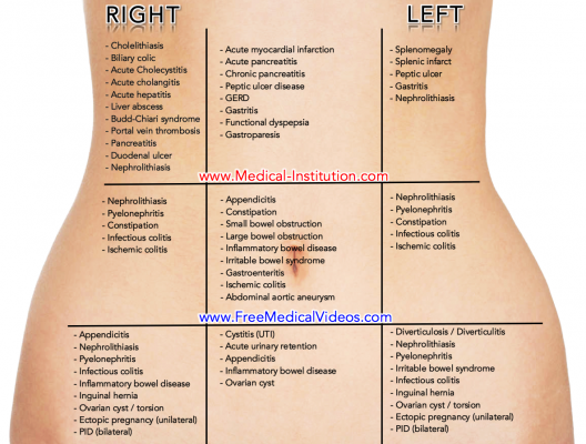 Diseases that promote pain in the left hypochondrium