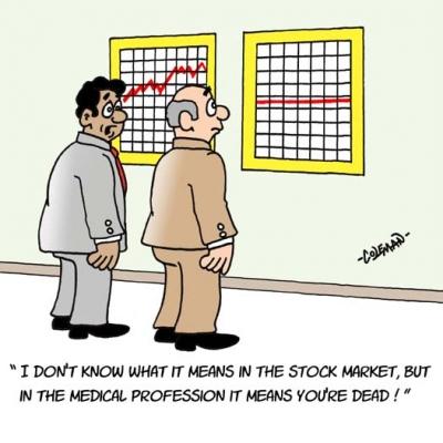 Medicine vs. Stock market - Funny Medical Pictures