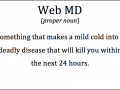 What is Web MD - Funny Medical Pictures