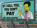 If I kill you, you don't pay - Best medical advertisement - Funny Medical Pictures