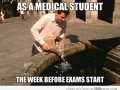 Medical students before the exam - Funny Medical Pictures