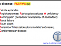 Fabry's disease Mnemonic