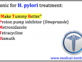 H. pylori treatment Mnemonic