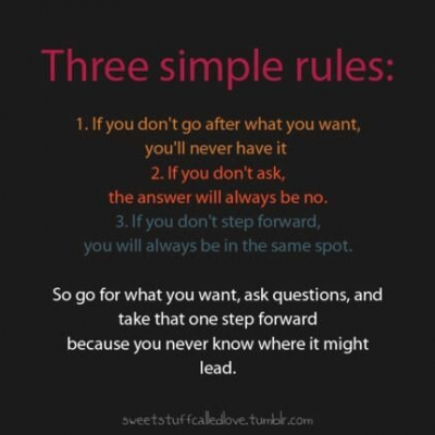 Three Simple Rules - Best Inspirational and Motivational Quotes