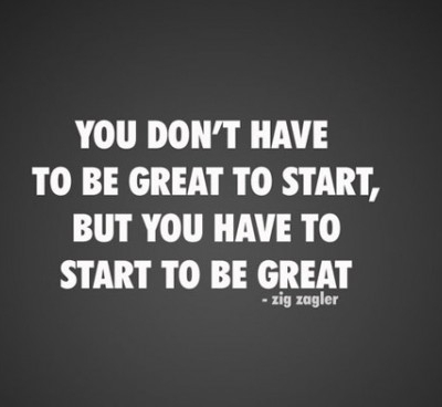 You don't have to be great to start - Best Inspirational and Motivational Quotes