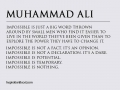 Impossible according to Mohammad Ali - Best Inspirational and Motivational Quotes