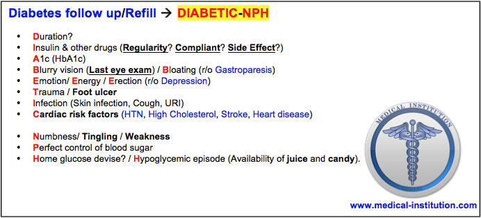 Diabetes-Follow-up-Mnemonic-USMLE-Step-2-CS-Medical-Institution