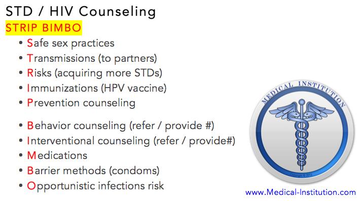 HIV STD Counseling Mnemonic - USMLE Step 2 CS