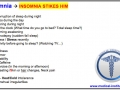 Insomnia Sleeping Problem Mnemonic - USMLE Step 2 CS